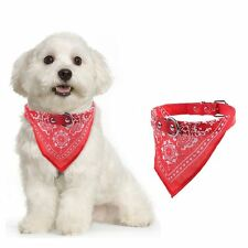 Dog Bandana Collar- Adjustable Cat Pet Neckerchief- 5 Sizes& 7 Colours Available