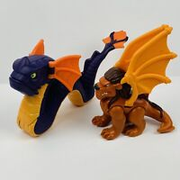 Fisher Price Imaginext MYTHICAL Purple SEA SERPENT Dragon & Winged LION Griffon