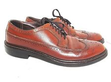 VINTAGE COMFORT PLUS 10 C BROWN GRAINED LEATHER WINGTIPS NICE!!
