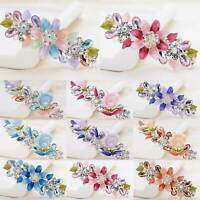 Women Ladies Rhinestone Crystal Flower Hairpin Barrettes Clips Hair Accessories