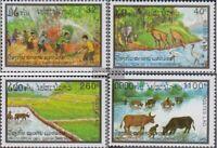 Laos 1374-1377 (kompl.Ausg.) postfrisch 1993 Umweltschutz