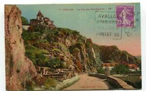 D16416 Avallon La Rue des Deux-Cousins 1933 Postcard France