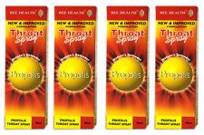 4 x Bottls Bee Health PROPOLIS Throat Spray 50ml each