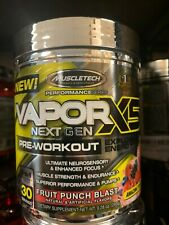 MuscleTech Vapor X5 30 Servings Fruit Punch Fast Free Shipping Best By 12/20