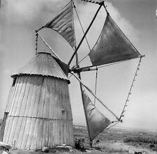 PENICHE c. 1950 - Moulin à Vent Portugal - Négatif 6 x 6 - Por 397