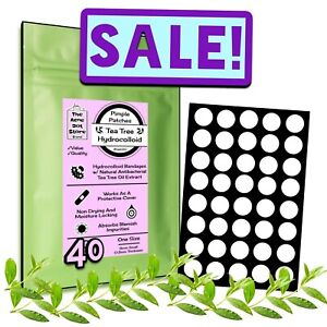 [40 SMALL] 8mm Acne Dots [TEA TREE] Hydrocolloid FACE Spot Pimple Patches tads20