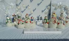 PRINCESS HOUSE SNOWPEOPLE PLACECARD HOLDERS Set of 4 Christmas #2259