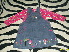 Denim Spotted Outfits & Sets (0-24 Months) for Girls