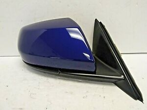 2014-2018 CADILLAC ATS SEDAN RH PASSENG4ER SD DOOR MIRROR OPULENT BLUE OEM