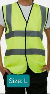 Uneek Unisex Sleeveless Safety Waistcoat Hi-Viz Vest Hi-Vis Flourescent Workwear