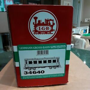 LGB 34640 Narrow Gauge Passenger Coach  in original boxes.with lights