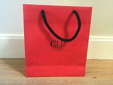 Used - CAROLINA HERRERA -bag Paper Red - Network Paper bag - 25 x 21,5 x 7 cm