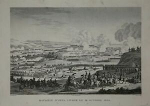 Bataille D` Jena, 1806. Napoleon. Copperplate From Couche. Ca 1850