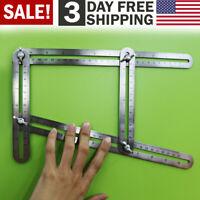 Multi Angle Measuring Ruler Metal Template Tool Stainless Steel Builder Tools