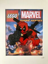 Lego -  - Marvel Comics - Deadpool - Hand Drawn & Hand Painted Cel