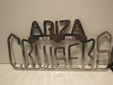 ARIZA CRUISERS EMBLEM  BADGE NAMEPLATE SCRIPT METAL