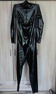 Libidex Latex Catsuit Gr. S schwarz für Damen Secrets mit offenem Schritt