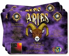 Aries Astrology Star Sign Birthday Gift Picture Placemats in Gift Box, ZOD-1P