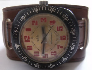 VERY RARE-UMF/RUHLA--OPEN FACE MAN'S  WATCH - MEN,S-GERMANY