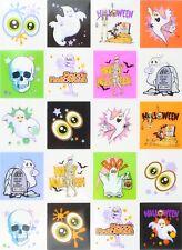 Zest 10 Sheets of Halloween Stickers Eyes Ghost Graveyard Skull