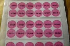 Garantía 8mm Adhesivos Ultra Destructibles etiquetas con publicaciones seriadas a prueba de manipulaciones 1000