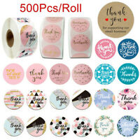 500Pcs/Roll Handmade Thank You Stickers Birthday Party Wedding Round Labels NEW