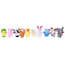 10pcs famille doigt animal marionnettes enfant jouet éducatif main dessin animé