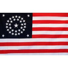 Us 34 Star Historical Flag Banner Sign 3' x 5' Foot Polyester Grommets