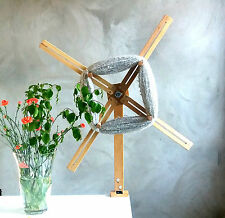 Large Yarn Swift with STEEL BALL BEARING / Skein / Yarn Winder. From Solid Birch