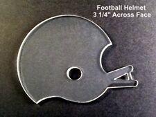 """(10) 3 1/4"""" Football Helmet Clear Acrylic 1/8' Thick Keychain Blanks"""