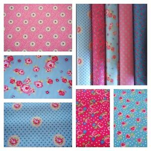 Vintage Floral 100% Cotton  Ex Wide 58ins Shabby Chic Fabric Cushions/Craft