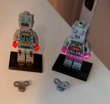 Lego Series 6 #78827 Minifigure Clockwork Robot and Lady Robot Complete