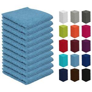 10 Seiftücher Seiftuch Waschlappen Set 30x30 cm 100% Baumwolle Öko-Tex