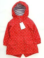 MOTHERCARE Girls Baby Raincoat Red Spotty Spring Summer Anorak Jacket Coat BNWT
