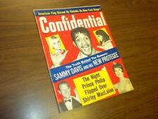 CONFIDENTIAL magazine 1966 August - movies tv politics actors sex adult