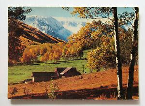 Rockies Mountains Fall Colors Colorado Postcard Landscape  Mountains