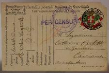 POSTA MILITARE 2° CORPO D'ARMATA 26.7.1917 TIMBRO 2^ SEZIONE PANETTIERI #XP209B
