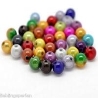 L/P Großverkauf Mix Mirakel Rund Acryl Spacer Wachsperlen Kugeln Beads 8mm