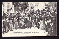 Printed Postcard Tarascon Procession Bouches-du-Rhône France Posted 1908 French