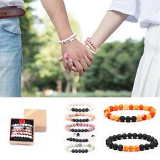 7 Charkra Natural Gemstone Healing 8MM Beaded Bracelets Stretch Couples Bracelet