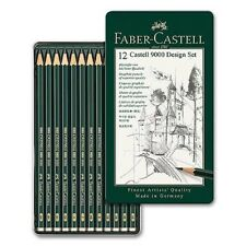 (1,08€/Stück) Castell 9000, Design Set mit 12 Bleistiften, Faber-Castell 119064