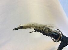 12 Green or Olive Weighted Clousers saltwater Stripers, Pike, Muskie 1189