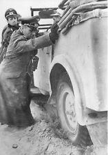 WWII Photo German General Rommel Stuck Car  WW2 World War Two /2101