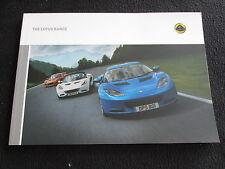 2011 2012 Lotus Evora Elise Exige Brochure 2-Eleven Sales Catalogue