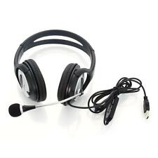 New OV-Q2 USB Stereo Headset Headphone Microphone Black for gaming PC Computer