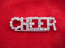 CHEERLEADER Rhinestone Cheer Pin - Coaches Moms Cheerleaders- 1 3/4""