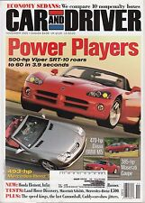 Car & Driver Nov 2002 - Viper SRT-10 - BMW M5 - Land Rover Discovery - Element