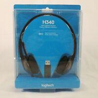 Logitech H340 USB Computer Headset Digital Audio Microphone New Sealed
