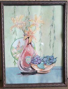 Vintage Original Water Color signed George H Barlow, Exhibited in 1941, Framed