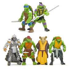 6pcs Teenage Mutant Ninja Turtles Leonardo Shredder Mascot Figure Set Kids Toy